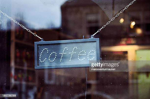Caffetteria bar sign - 'Coffee' text