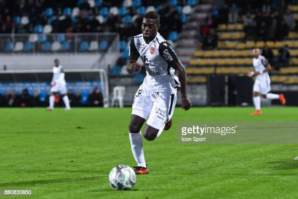 Cafimipon David Gomis during the Ligue 2 match between Tours and Gazelec Ajaccio at on November 24 2017 in Tours France Philippe Le Brech / Icon Sport