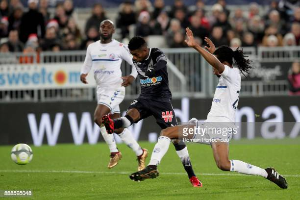 Cafu of Bordeaux in action during the Ligue 1 match between FC Girondins de Bordeaux and Strasbourg at Stade Matmut Atlantique on December 8 2017 in...