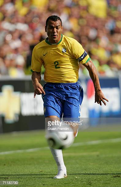 Cafu of Brazil in action during the international friendly match between Brazil and New Zealand at the Stadium de Geneva on June 4, 2006 in Geneva,...