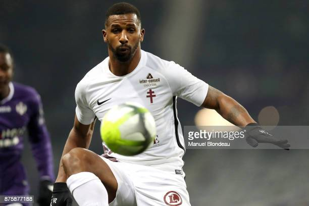 Cafu of Metz during the Ligue 1 match between Toulouse FC and FC Metz at Stadium Municipal on November 18 2017 in Toulouse