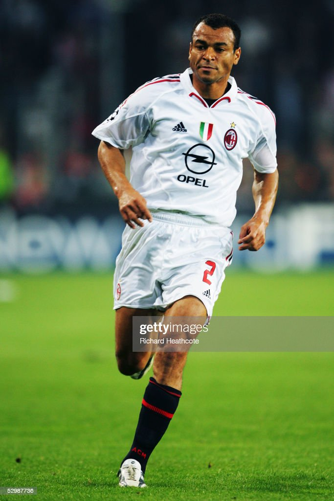 Cafu of Milan in action during the UEFA Champions League Semi Final, 2nd Leg, match between PSV Eindhoven and AC Milan, held at The Philips Stadion on May 4, 2005 in Eindhoven, Netherlands