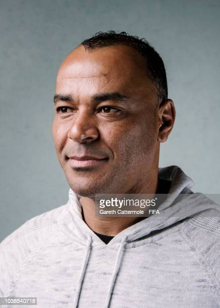 Cafu poses for a portrait at London Marriott Hotel County Hall prior to the The Best FIFA Football Awards 2018 on September 23 2018 in London England