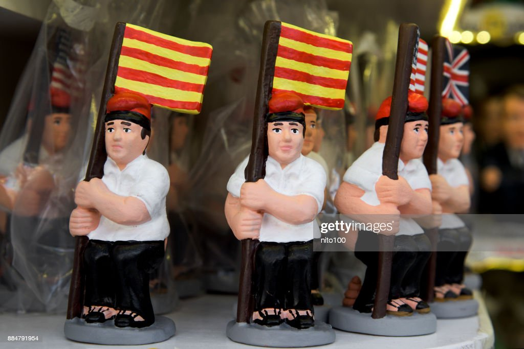 caganer, catalan character in the nativity scenes : Stock Photo