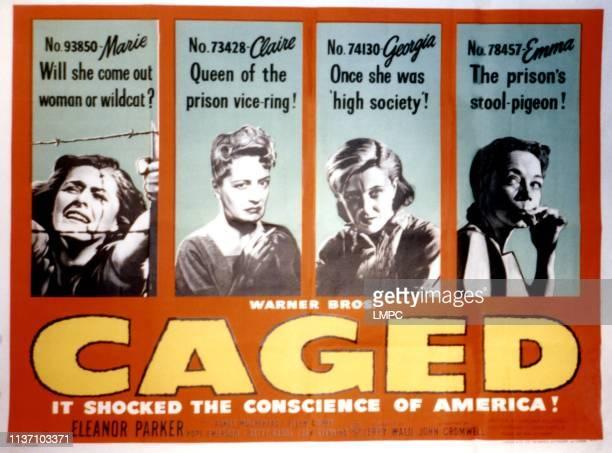Caged poster Eleanor Parker Joan Miller Gertrude Michael Ellen Corby 1950