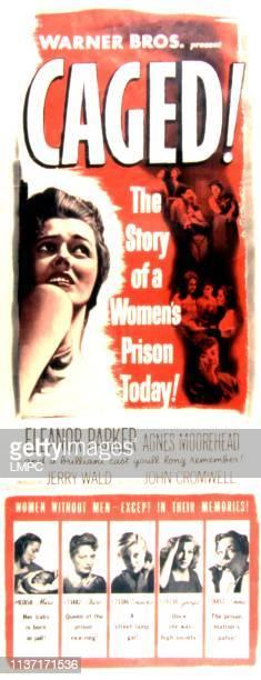 Caged poster Eleanor Parker Joan Miller Jan Sterling Gertrude Michael Ellen Corby 1950