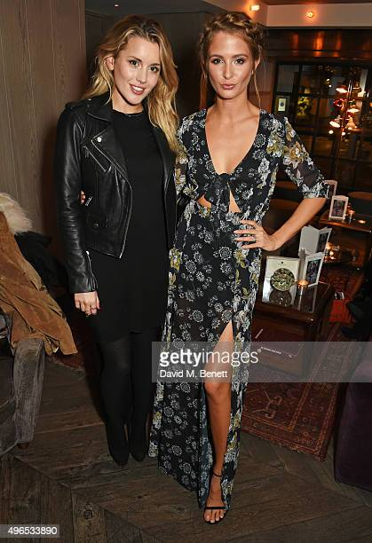 Caggie Dunlop and Millie Mackintosh attend a private dinner hosted by Millie Mackintosh to celebrate the launch of her AW15 collection at Pont St...