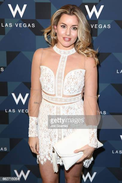 Caggie Dunlop arrives at the W Las Vegas Grand Opening Celebration on March 31 2017 in Las Vegas Nevada