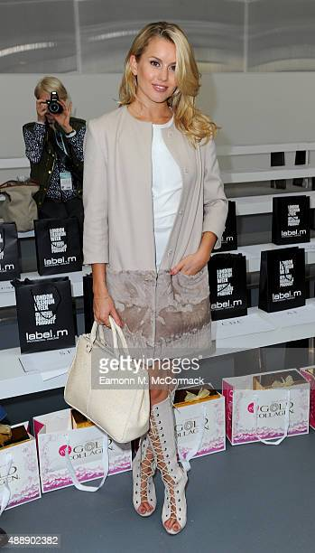 Caggie Dunlop attends the JeanPierre Braganza show during London Fashion Week Spring/Summer 2016 on September 18 2015 in London England