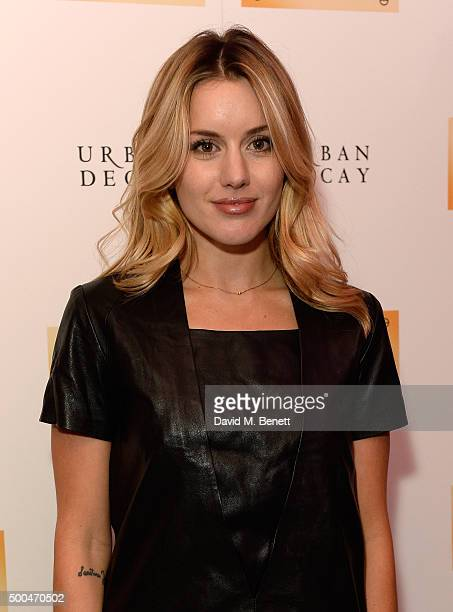 Caggie Dunlop attends the Urban Decay x Gwen VIP dinner at Hotel Chantelle on December 8 2015 in London England
