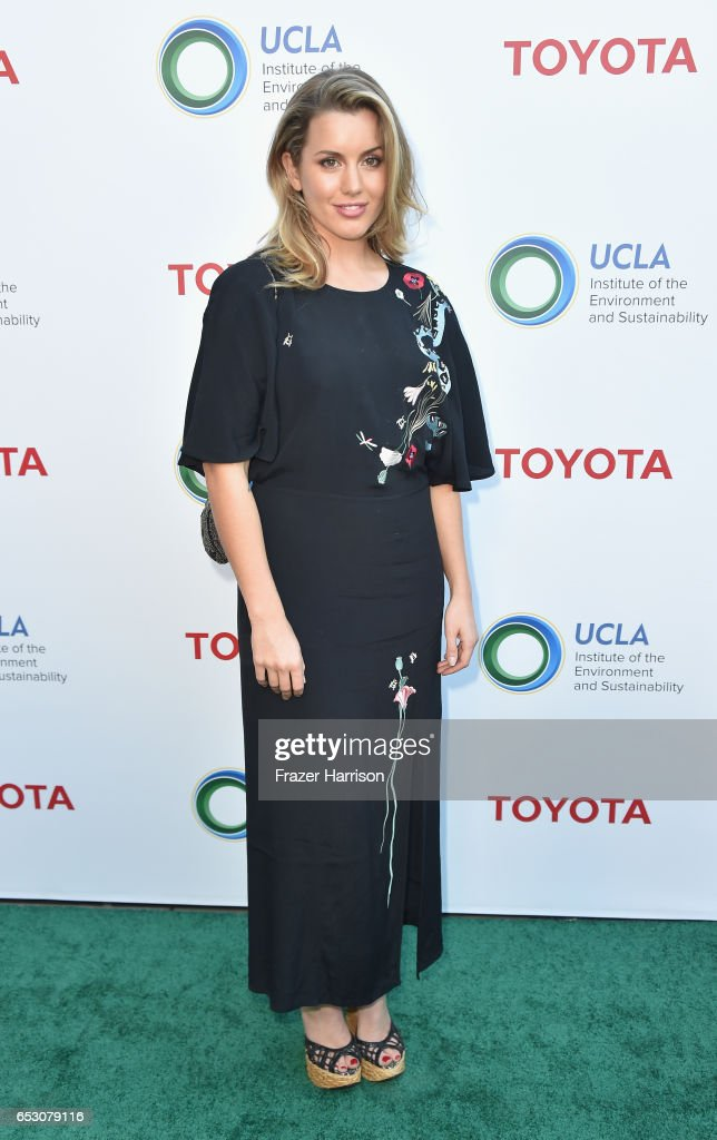 Caggie Dunlop attends UCLA Institute of the Environment and Sustainability celebrates Innovators For A Healthy Planet at a private residence on March 13, 2017 in Beverly Hills,California.