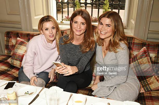 Caggie Dunlop Millie Mackintosh and Madeleine Shaw attend the Madeleine Shaw Glow Guides app launch at Brown's Hotel in partnership with Origins...