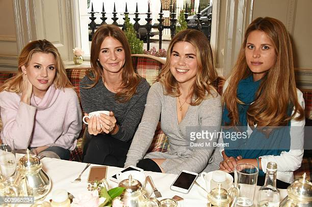 Caggie Dunlop Millie Mackintosh Madeleine Shaw and Irene Forte attend the Madeleine Shaw Glow Guides app launch at Brown's Hotel in partnership with...