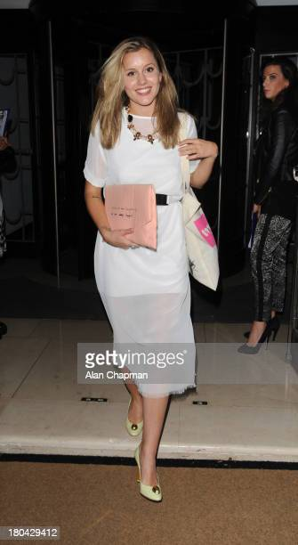 Caggie Dunlop sighting at the Fearne Cotton Fashion Show Claridges on September 12 2013 in London England