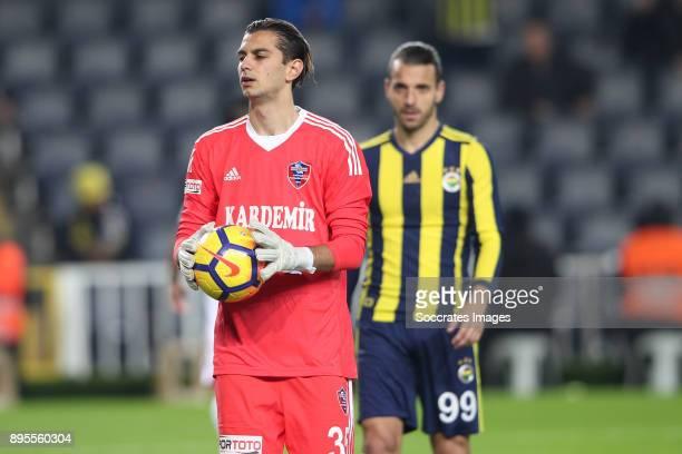 Caglar Sahin Akbaba of Karabukspor during the Turkish Super lig match between Fenerbahce v Karabukspor at the Sukru Saracoglustadion on December 18...