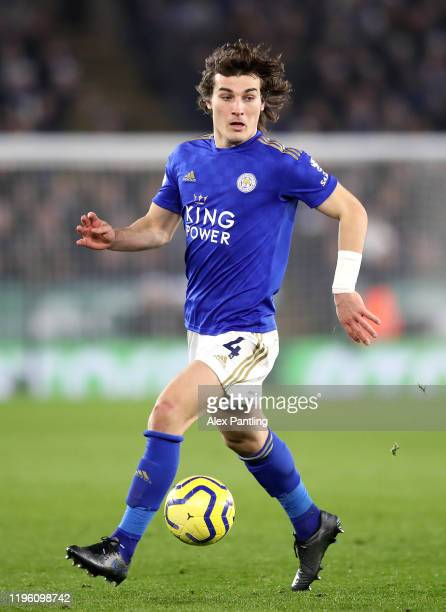 Caglar Soyuncu of Leicester City during the Premier League match between Leicester City and Liverpool FC at The King Power Stadium on December 26,...