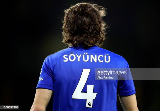 Caglar Soyuncu of Leicester City during the Premier League match between Wolverhampton Wanderers and Leicester City at Molineux on February 14, 2020...