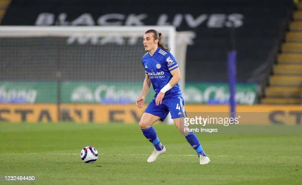 Caglar Soyuncu of Leicester City during the Premier League match between Leicester City and West Bromwich Albion at The King Power Stadium on April...
