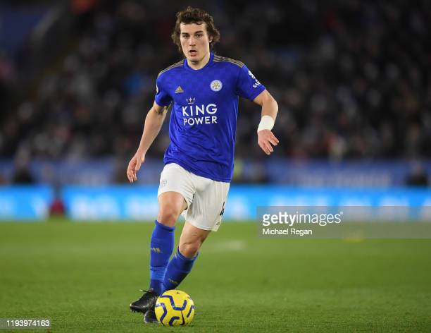 Caglar Soyuncu of Leicester in action during the Premier League match between Leicester City and Norwich City at The King Power Stadium on December...