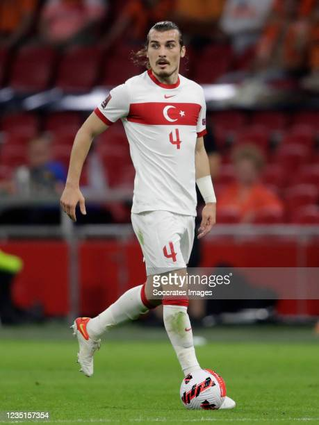 Caglar Soyuncu of Turkey during the World Cup Qualifier match between Holland v Turkey at the Johan Cruijff Arena on September 7, 2021 in Amsterdam...