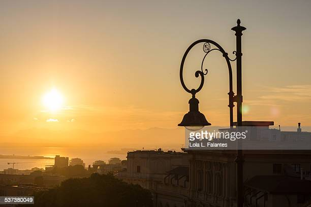 Cagliari at Sunset