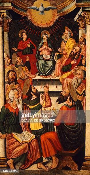 Cagliari Pinacoteca Nazionale Pentecost by an unknown 16th century Sardinian artist