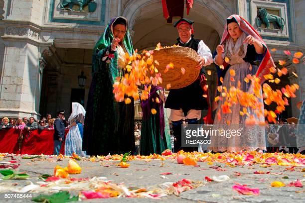 Cagliari Ramadura Sant'Efisio traditional event the most important religious feast in Sardinia Italy Europe