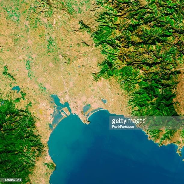 cagliari sardinia italy topographic map top view mar 2019 - frank ramspott stock pictures, royalty-free photos & images