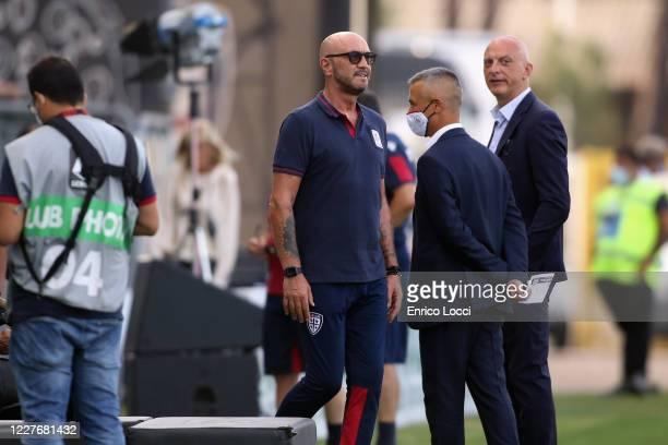 Cagliari's coach Walter Zenga looks on during the Serie A match between Cagliari Calcio and US Sassuolo at Sardegna Arena on July 18 2020 in Cagliari...