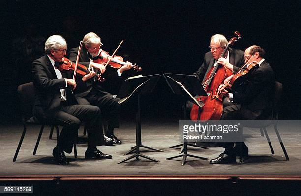 CAGuarneriQuartetRDL The Guarneri String Quartet performs in concert at the Irvine Barclay Theatre in Irvine Arnold Steinhardt violin John Dalley...