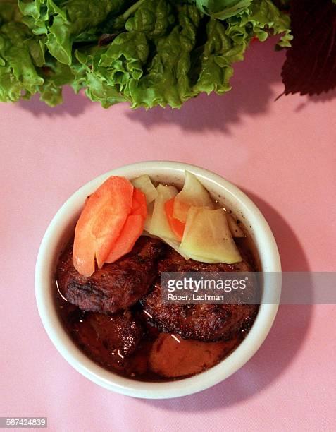 CAHaNoiPorkRDL At the Ha Noi Restaurant in Garden Grove Bun Cha Ha Noi TIMES PHOTO BY ^^^