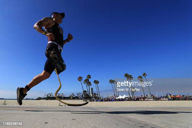 Cahin Perez competes during the Legacy Triathlon-USA Paratriathlon National Championships on July 20, 2019 in Long Beach, California.