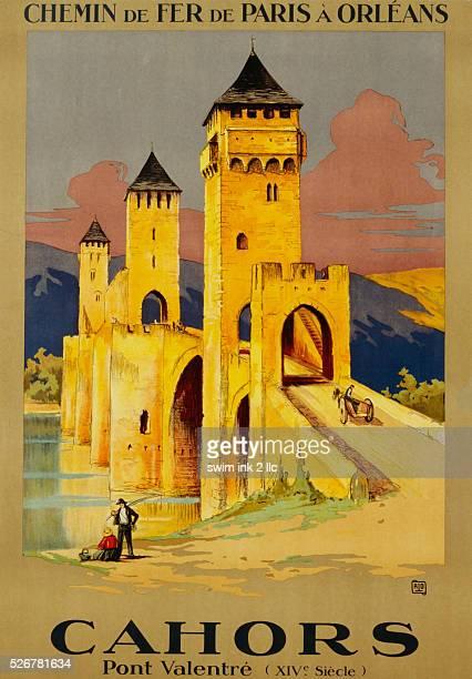 Cahors Railway Travel Poster