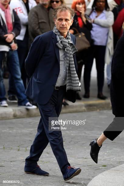 Cahrels Berling arrives at ean Rochefort's Funeral At Eglise SaintThomas D'Aquin on October 13 2017 in Paris France
