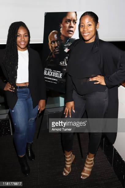 Cai Byrd and Jasmine Mazyck attend the Los Angeles Influencer Special Screening of Sony Pictures' BLACK AND BLUE hosted by Terrence J and Director...
