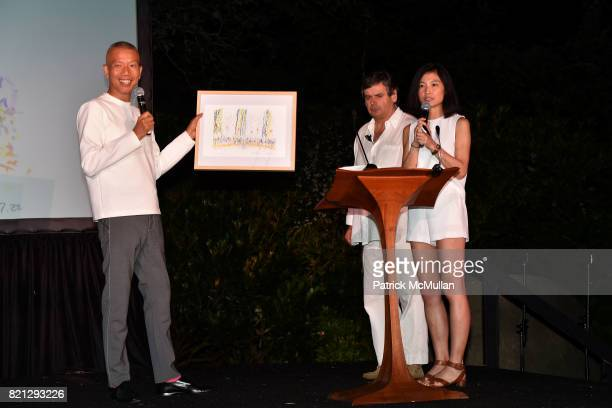 Cai GuoQiang and Matko Tomicic attend Boom The Cosmic LongHouse Benefit at LongHouse Reserve on July 22 2017 in East Hampton New York