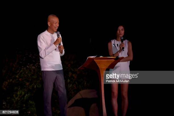 Cai GuoQiang attends Boom The Cosmic LongHouse Benefit at LongHouse Reserve on July 22 2017 in East Hampton New York