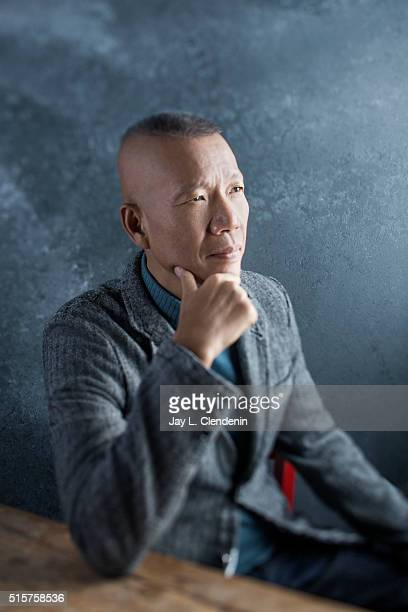 Cai GuoQiang from the film 'Sky Ladder The Art of Cai GuoQiang' pose for a portrait at the 2016 Sundance Film Festival on January 22 2016 in Park...