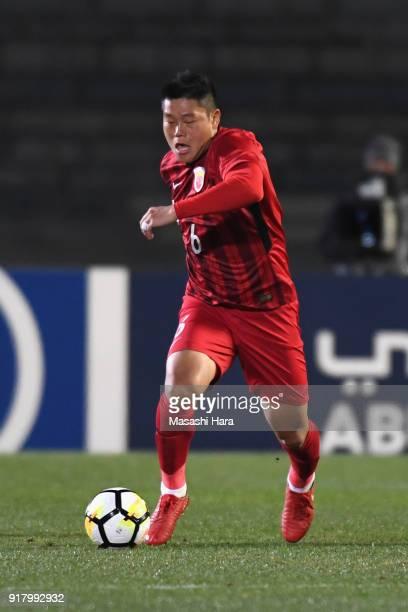Cai Huikang of Shanghai SIPG in action during the AFC Champions League Group F match between Kawasaki Frontale and Shanghai SIPG at Todoroki Stadium...