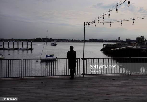 Cai Walkowiak, of Worthington, takes in the view from the Institute of Contemporary Art in the Seaport District of Boston on June 5, 2019.