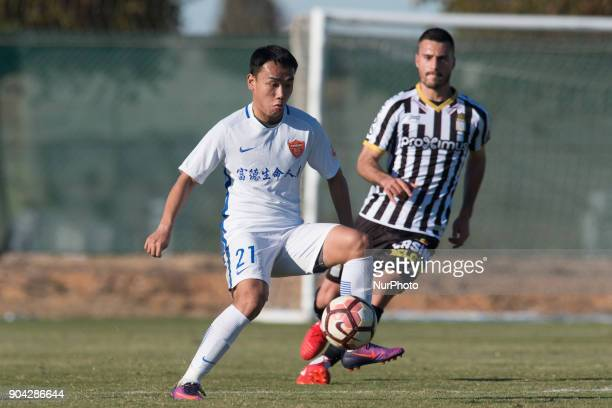 Cai Xinyu during the friendly match between Royal Charleroi SC vsYanbian Funde FC at Pinatar Arena Murcia SPAIN 10th January of 2018