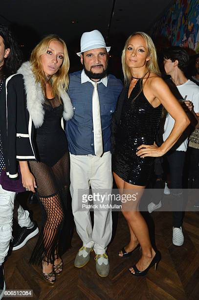 Caia Maisse Phillip Bloch and Indira Cesarine attend Interview Topshop Celebrate the Interview September Issue at Kola House on September 13 2016 in...