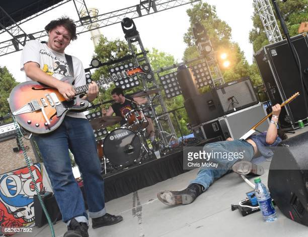 Caiden Lake James Connor Brodner and Clay Frankel of Twin Peaks perform at Shaky Knees Music Festival at Centennial Olympic Park on May 12 2017 in...