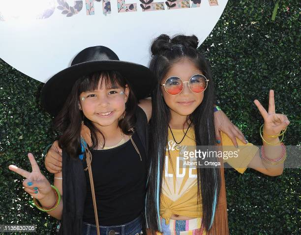 Caidynce Aquino and Gia Zuniga arrive for Clubhouse Kidchella held at Pershing Square on April 6 2019 in Los Angeles California