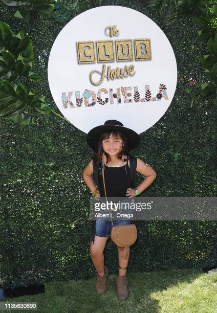 Caidynce Aquino arrives for Clubhouse Kidchella held at Pershing Square on April 6 2019 in Los Angeles California