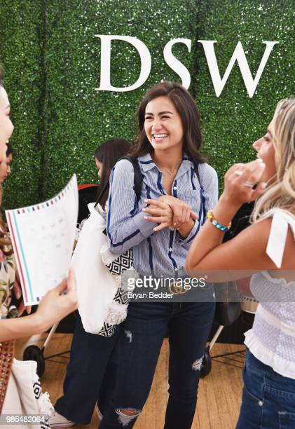 Caila Quinn attend DSW Block Party hosted by Olympians Adam Rippon and Mirai Nagasu on June 27 2018 at Ramscale Studio in New York City