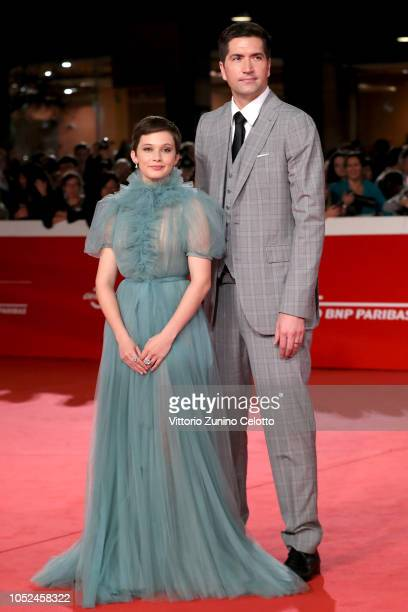 Cailee Spaeny and Drew Goddard walk the red carpet ahead of the Bad Times At The El Royale screening during the 13th Rome Film Fest at Auditorium...