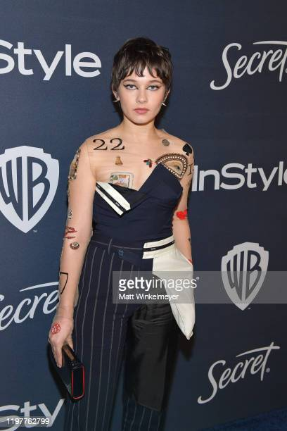 Cailee Spaeny attends The 2020 InStyle And Warner Bros. 77th Annual Golden Globe Awards Post-Party at The Beverly Hilton Hotel on January 05, 2020 in...