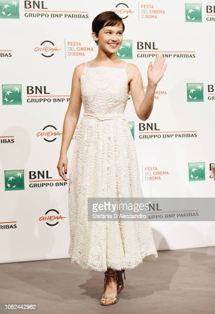 Cailee Spaeny attends the Bad Times At The El Royale photocall during the 13th Rome Film Fest at Auditorium Parco Della Musica on October 18 2018 in...