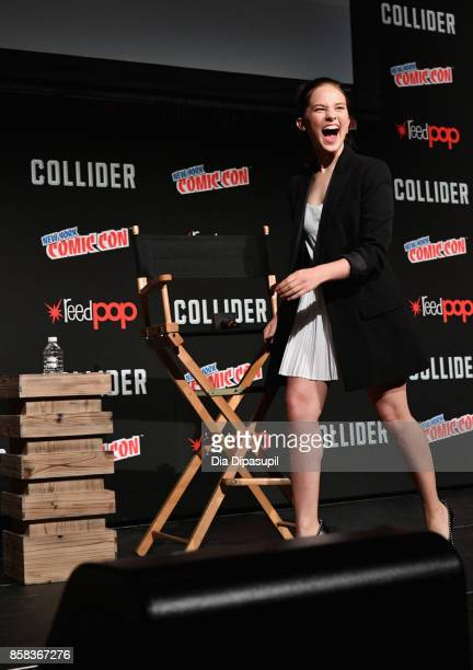 Cailee Spaeny speaks onstage during the 2017 New York Comic Con on October 6 2017 in New York City